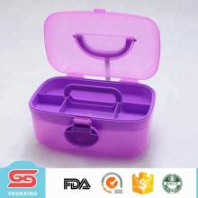 Портативный ящик для инструментов пустой пластиковый контейнер для хранения с ручкой