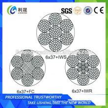 6x37 + FC 6x37 + IWS 6x37 + IWR Nacelle Cuerda de alambre de acero