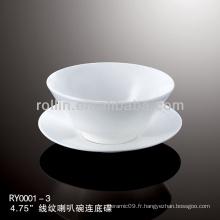 Tasses chinoises à base de porcelaine blanche spéciale spéciale et saine