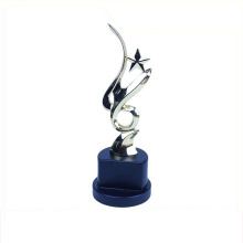 Cheap simple style metal shoe aluminum trophy