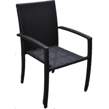 PE Wicker Outdoor Stack High Arm Chair
