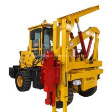 Máquina de conducción de pilotes hidráulica para valla de carretera