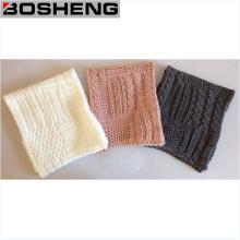 Diferentes colores caliente moda patrón de punto bufanda de infinito