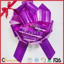 100% Poly Ribbon POM POM Pull Bow for Home Decoration