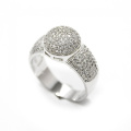 Hot Sales 925 Sterling Silver Ring Silver Jewelry com CZ
