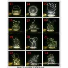 New Types 3D Table Light with USB