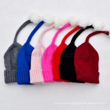 Sombrero de invierno al por mayor para niños Sombrero de niños gorros tejidos de lana de punto
