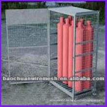 Gas con jaulas de almacenamiento galvanizadas