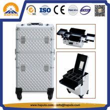 2 in 1 Rolling Makeup Trolley Beauty Case (HB-3312)