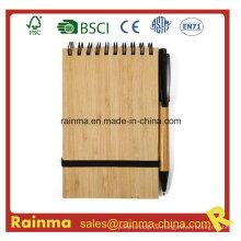 A6 Spiral Bambus Notizbuch mit Eco Pen