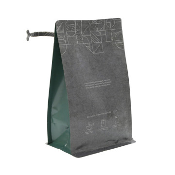 Bahan Laminated Square Bottom / Stand Up / Side Gusset Kraft Paper Bag Untuk Teh