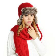 (LKN15027) Plush Winter Fleece Earflaps Hat
