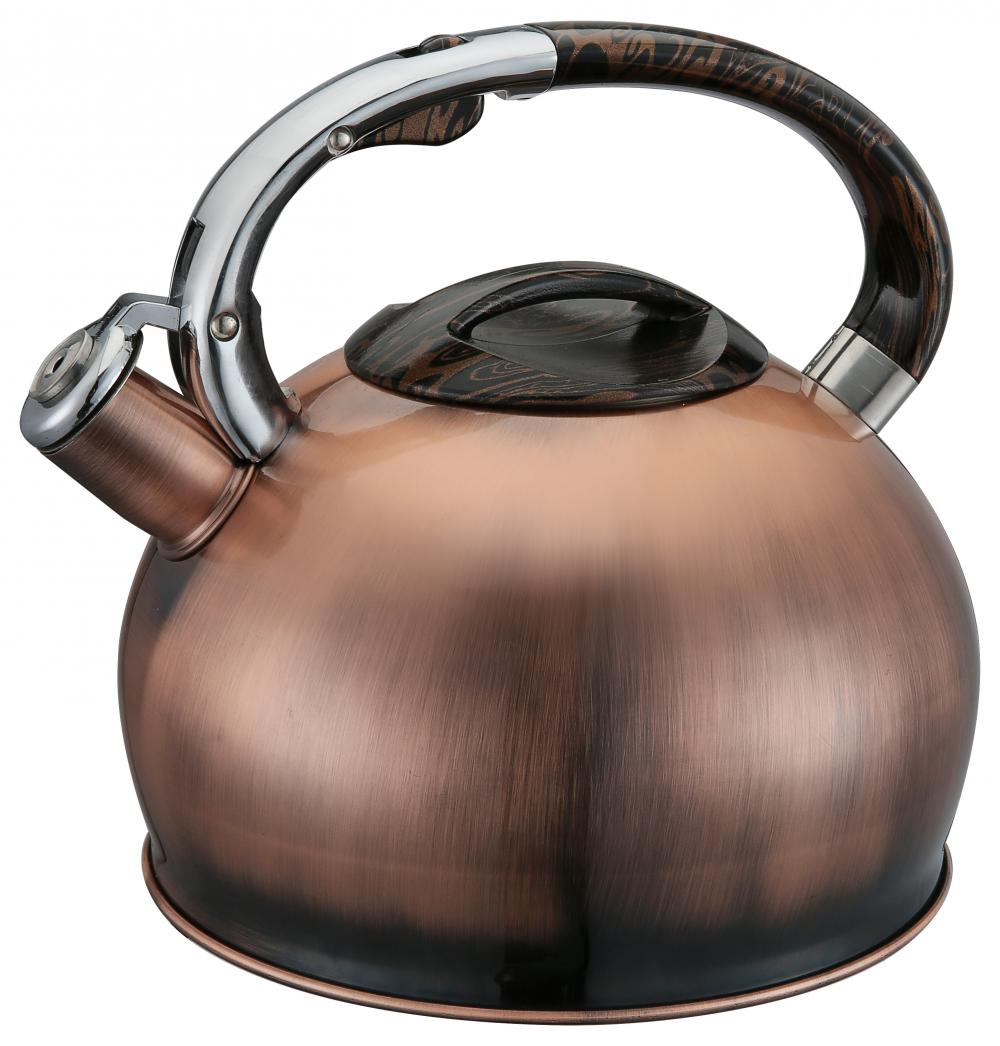 Copper Color Whistling Kettle And Stainless Steel Handle