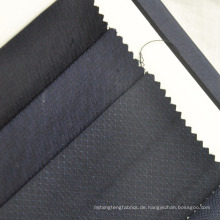 marineblaue kleine Check Dobby Worsted Wollstoff für Anzug