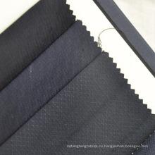 темно-синий малая проверка Добби Камвольно шерстяной ткани для костюма