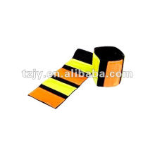 Elastic reflective slap wrap reflective armband