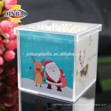 JINBAO Suppliers Customed Transparent Acrylic Candy Display Box with Printing Logo