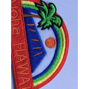 Regenbogen Palm Aufbügeln Stickerei Applique Patch