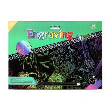 Hermoso arte suministros arco iris del pavo real tarjetas de rascar