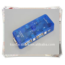 Alta qualidade USB 2.0 KVM 4 portas VGA teclado mouse caixa de switch