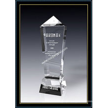 Crystal Award Olympic Obelisk 11 Inch Tall
