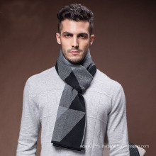 Men′s Hot Winter Wool Nylon Acrylic Knitted Woven Scarf (YKY4607)