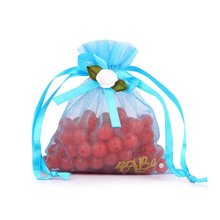 Blue wedding gift organza bag