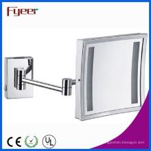Fyeer Single Side Square plegable espejo de maquillaje LED (M2028F)