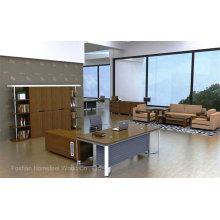 Bureau de bureau de bureau de bureau de nouvelle conception en bois et en acier (HF-WD021)