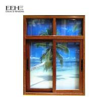 Taille standard pour fenêtre coulissante en verre teinté bleu aluminium