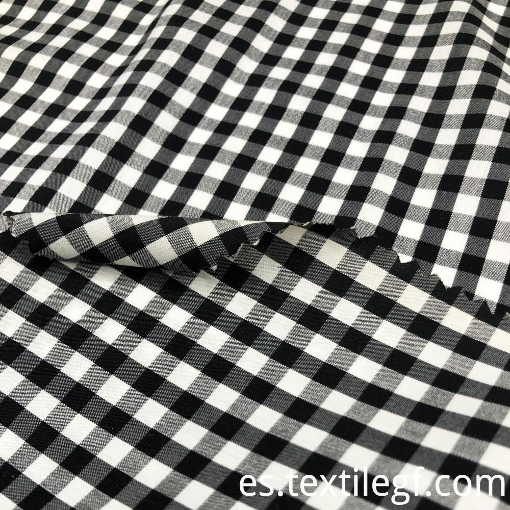 Plaid Pattern Poplin Fabric