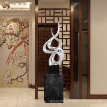 Vente chaude de grande sculpture intérieure en résine statue irrégulière pour cadeau d'entreprise