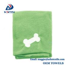 Toalha de secagem do cão absorvente super, toalha de pano do banho do animal de estimação de Microfiber feita em China