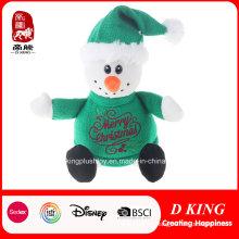 Regalos de Navidad Juguetes de peluche de muñeco de nieve con suéter verde