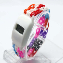 Silicone DIY Digital Watch LED Bracelet Watch