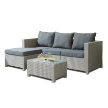 4PCS Rattan Chaise Lounge Ensemble de canapé de jardin