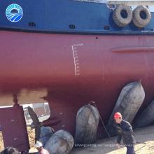 Hangshuo inflado airbag de caucho marino para salvamento flotante y sellado de tuberías