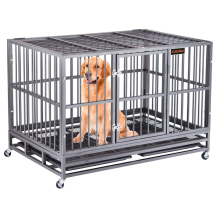 Jaula para perros grandes con ruedas bloqueables