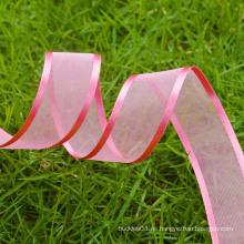 Cinta decorativa personalizada de organza de la cinta de la boda