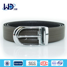 Pin Buckle Genuine Cowhide Leather Belt for Men