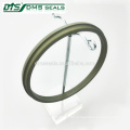 Bronze PTFE-Abstreiferdichtung für Hydraulikzylinderdichtung GSZ