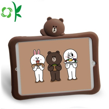 Brown Bear Silicone Tablet Case Ipad för barn