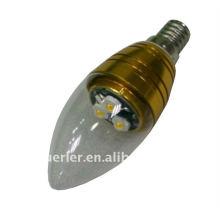 Lumière à bougies LED à haute puissance 3 w e27