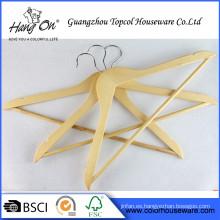 Gancho de metal por mayor ropa de percha de madera perchas de madera personalizado