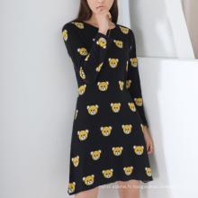 17PKCS234 2017 tricot laine Cachemire tricoté robe pull femme