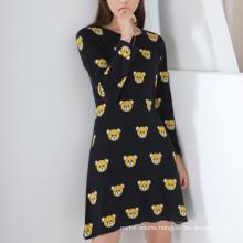 17PKCS234 2017 knit wool cashmere knitted lady sweater dress