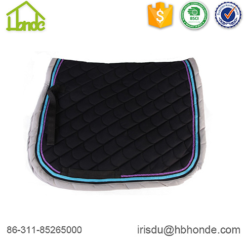 black horse saddle pad