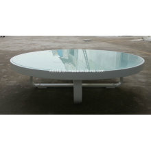 All Weather Garden Outdoor Aluminum Glass Low Table