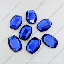 28mm Sapphier Ovale Form Glas Stein Flache Rückseite Steine