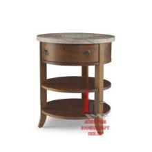 Table d'appoint à tiroir rond